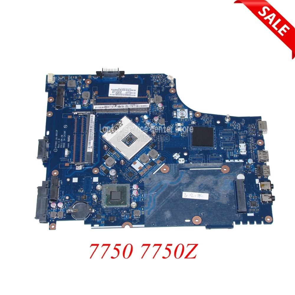 NOKOTION P7YE0 LA-6911P Laptop motherboard For Acer Aspire 7750 7750Z Intel hm65 DDR3 MBRN802001 MB.RN802.001 Main board works
