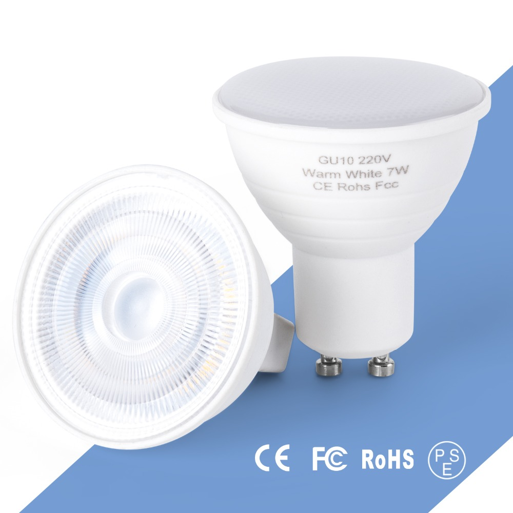GU10 LED Lamp MR16 Spotlight LED Bulb 220V GU 10 Bombillas LED Lamp GU5.3 5W 7W Spot Light For Home Decoration Ampoule 2835 SMD