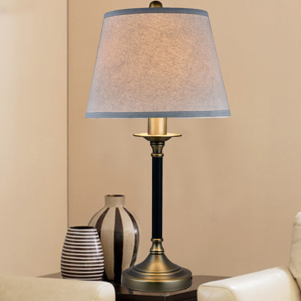 Aliexpresscom buy european modern table lamp with linen for Table lamp 27 cm