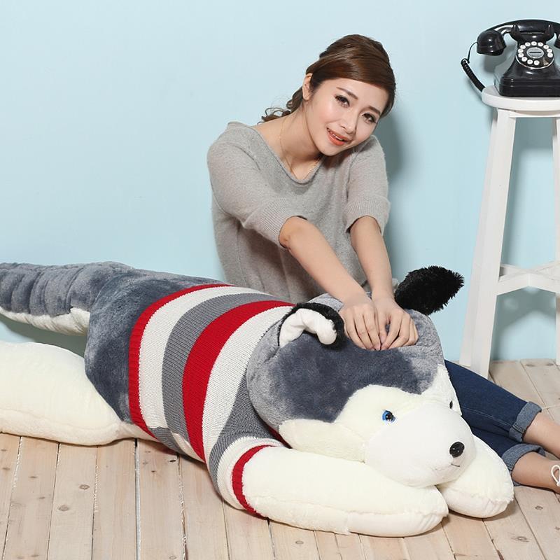 ФОТО 1pcs 6# size 100cm Littlecucu sweater husky plush dog best gifts for girlfriend Birthday valentine's day gifts wholesale