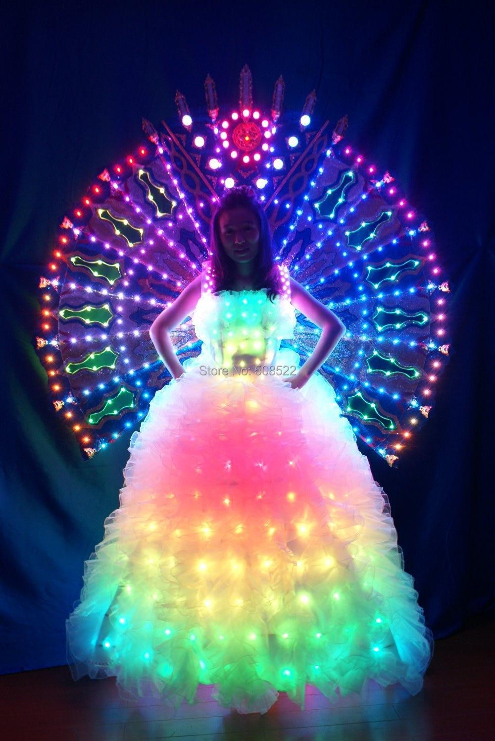 Licht zurück Rack LED Fluoreszenz unter der Bühne Prop LED Kleidung - Partyartikel und Dekoration - Foto 2