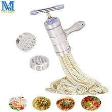 цена на Meltset Stainless Steel Manual Noodle Maker Kitchen Pasta Spaghetti Press Fruit Juicer Pressing Machine Household Pasta Tools