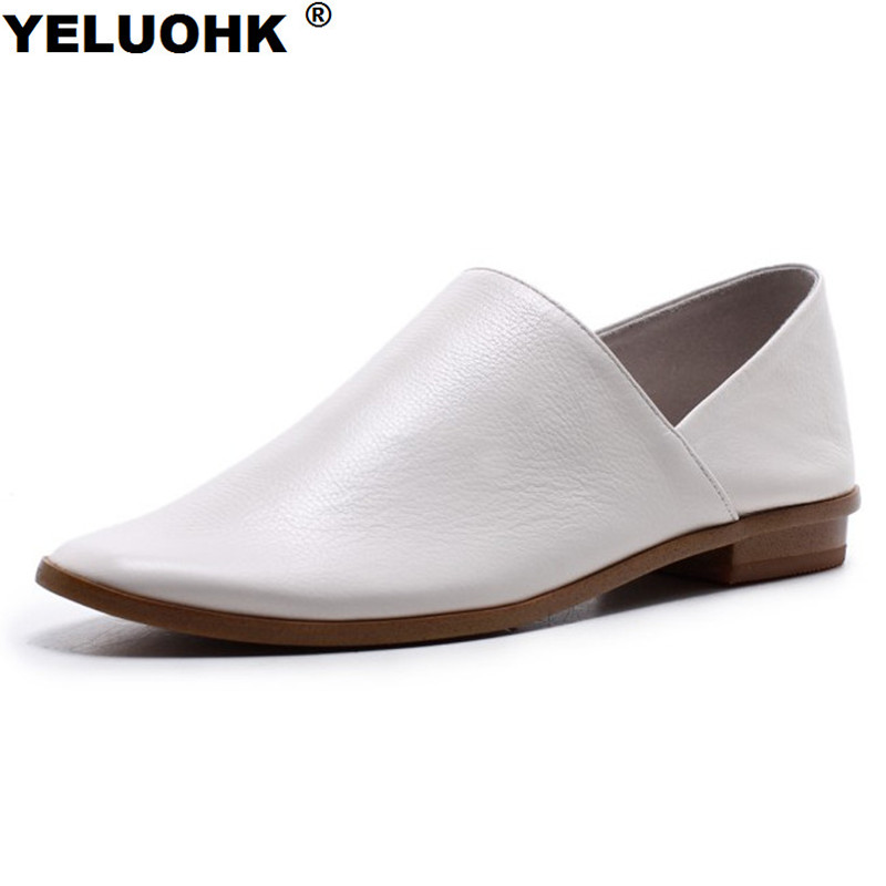 Brand New Spring Genuine Leather Shoes Women Flat Casual Soft Leather Women Moccasins Loafers Comfortable Handmade Ladies Shoes cheap hot women shoes 2018 summer women flat white shoes comfortable breathable super soft pu leather lace ladies casual shoes