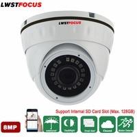 LWSTFOCUS 8MP Network IP Camera Mini Dome Security CCTV Camera POE SD Card H.265+ IP camera 8MP 4mm Len ONVIF Hikvision Protocal