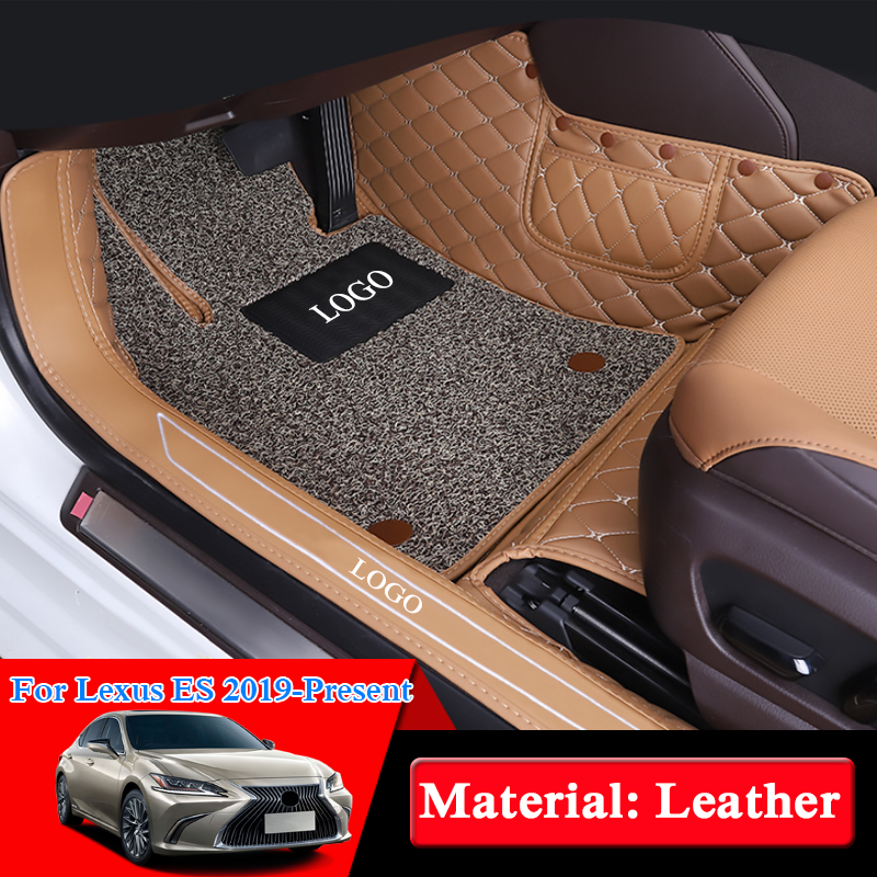 Car Styling For Lexus ES ES200 ES260 ES300H 2019 LHD Car Floor Mats Rugs Auto Leather Foot Mats Pad Interior Accessories