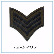 DOUBLEHEE 006 3 V Army College Style Embroidery Patches Iron On Or Sew Fabric Sticker For Clothes Embroidered Appliques DIY