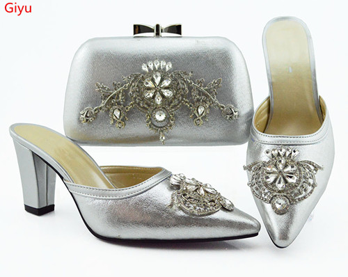 doershow African Party Italian Shoes with Matching Bags for Women Italian Ladies Shoe and Bag Set Decorated with silver!HVC1-42doershow African Party Italian Shoes with Matching Bags for Women Italian Ladies Shoe and Bag Set Decorated with silver!HVC1-42