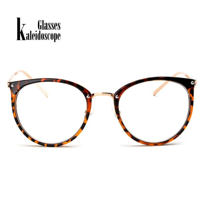 Caleidoscopio gafas transparente de grado marco gafas Oversized gato ...
