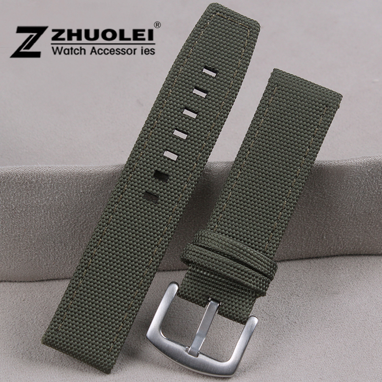 Nylon+Genuine leather watch strap for mens 22mm army green perlon watch strap watchband waterproof nylon watch strap sitemap 276 xml