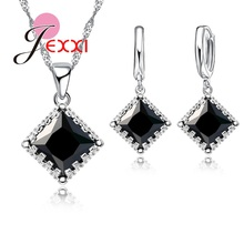 Earrings Necklace Jewelry-Sets 925-Sterling-Silver Cheap-Price Pendants Cubic-Zirconia