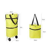 2017 Oxford Foldable Bag New Reusable Shopping Bag Trolley Bags On Wheels Bags On Wheels Shopping