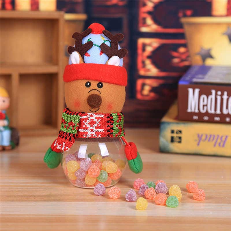 2018 Hot Child Kids Christmas Candy Jar Storage Bottle Santa Bag Sweet Christmas Box Gif free shipping #2n1 (2)