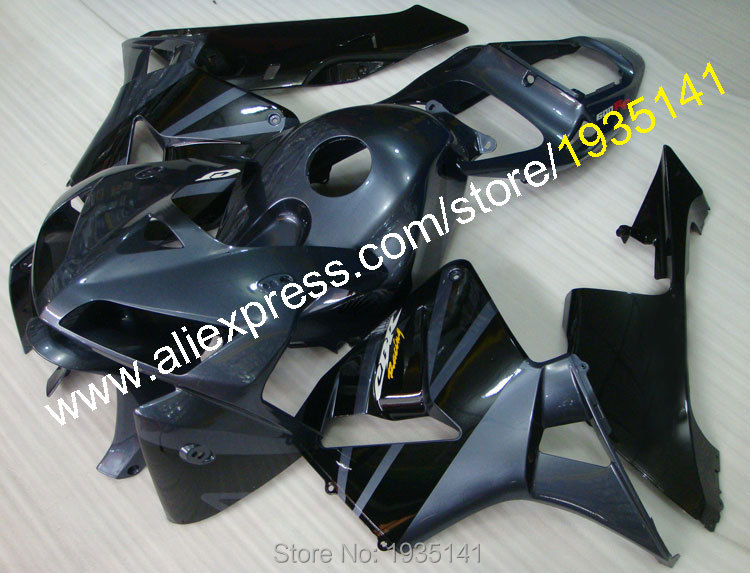 Горячие продаж,для Honda CBR600RR F5 в 2005 2006 черный серый обвес ЦБ РФ 600RR 05 06 CBR600 РР Спортбайки Обтекатели (литье под давлением)