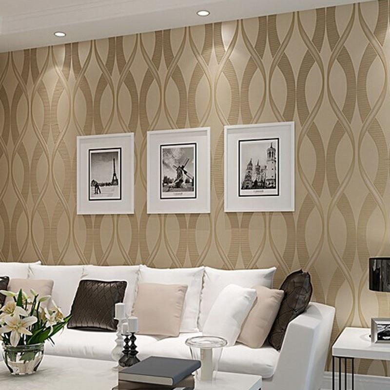 Online Kaufen Großhandel Gestreifte Tapete Designs Aus China ... Tapeten Wohnzimmer Beige