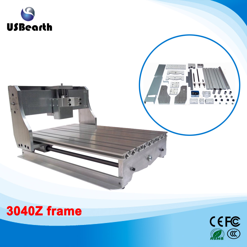 cnc frame lathe cnc 3040 Z with ball screw, cnc router machine, Free tax to Russia no tax ship from factory new release diy 3040t cnc frame for 3040 cnc router with trapezoidal screw for milling machine frame
