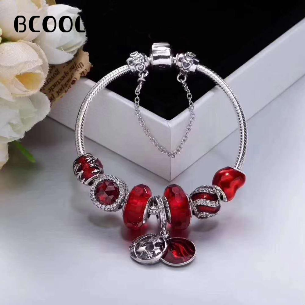 DIY Jewelry Female Charm Fashion Silver 925 Original Bracelet, Suitable for Female Star Red Bracelet Jewelry GiftDIY Jewelry Female Charm Fashion Silver 925 Original Bracelet, Suitable for Female Star Red Bracelet Jewelry Gift