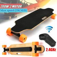 200W+200W Electric Skate Board Double Drive 24V Electric Skateboard 25KM/H For Young People + Remote Controller