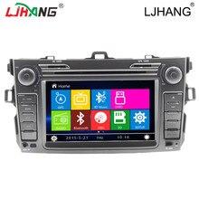 2DIN coche multimedia Reproductor de DVD de Radio de audio para Toyota corolla 2007 2008 2009 2010 2011 Bluetooth Control Del Volante Del GPS IPOD