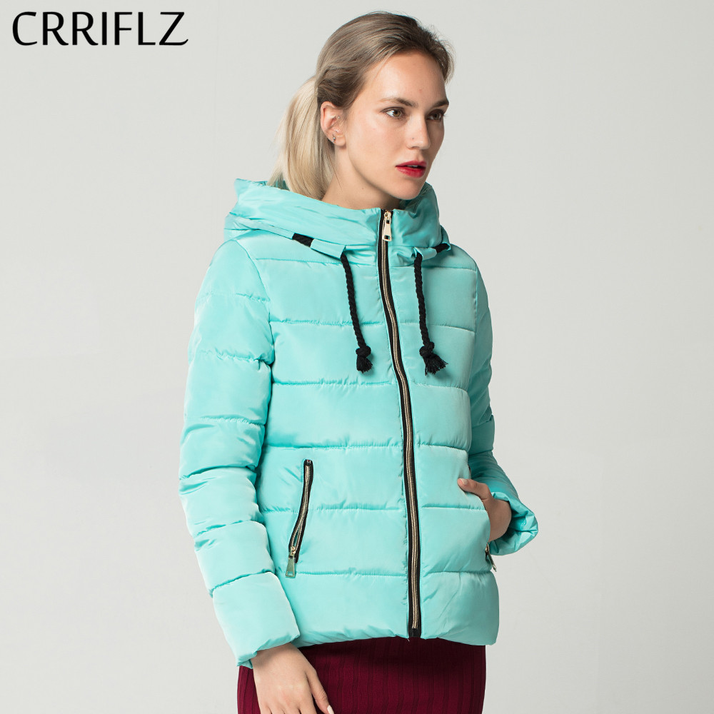 Warm Winter   Basic     Jacket   Women Parkas Thick Zipper Short Hooded Coat Female   Jacket   Coat CRRIFLZ New Autumn Winter Collection