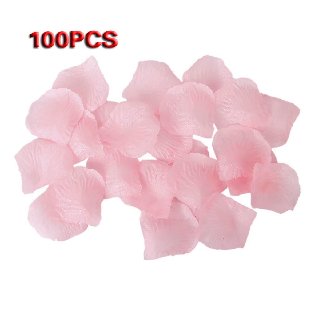 இGsfy-100 unids rosas flores artificiales pétalos de decoración de ...