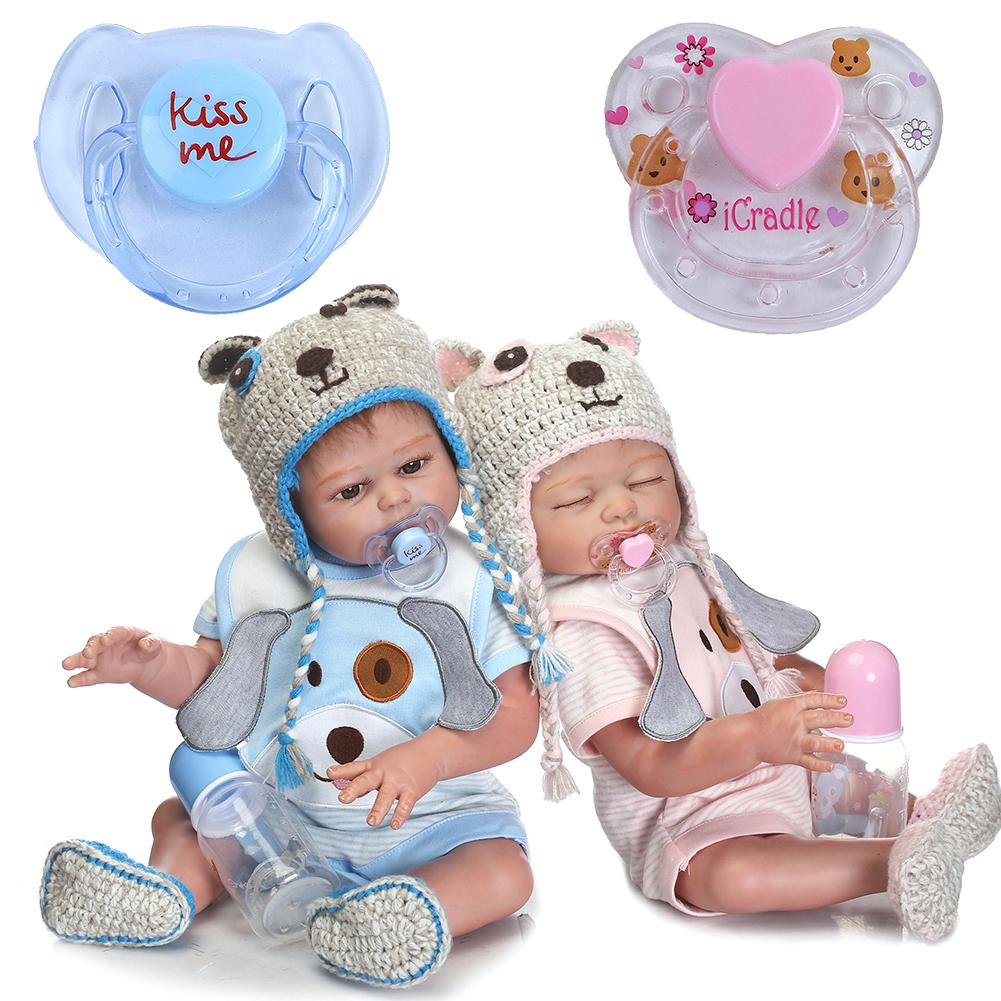 Magnetic Pacifier Dummy For Baby Dolls Pink Blue Randomly Ship