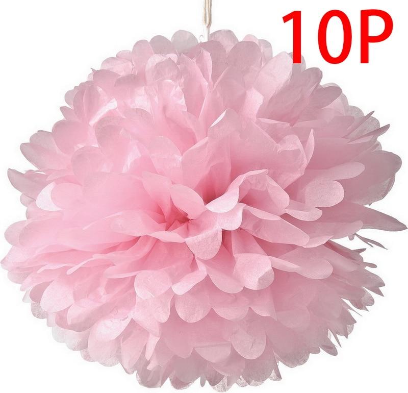 10 pulgadas (25 cm) Venta caliente Papel de Seda Pom Poms Flor Kissing Bolas Dec