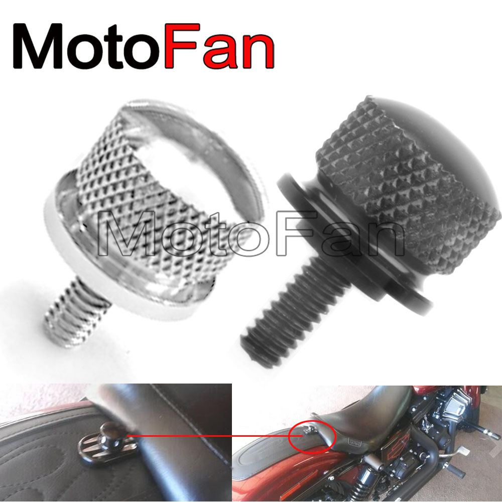 Automobiles & Motorcycles 2019 New Style Universal Motorcycle Seat Bolt Screw Cap Cnc Aluminum 1/4 Thread For Harley Davidson Models Sportster Fatbob Touring 1996-2016