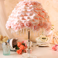 Free Shipping Wedding Table Lamp Bedroom Bedside Korean Garden Style Wedding Gift Ideas Romantic Rose Petals