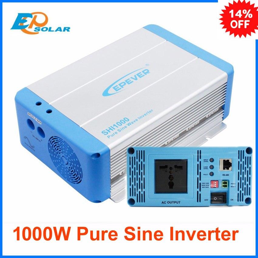Inverter EPEVER off grid system 1000W 1KW SHI1000W-22 22Vdc to 220Vac 24V 48V SHI1000-48 input to AC output 220V 230V solar power on grid tie mini 300w inverter with mppt funciton dc 10 8 30v input to ac output no extra shipping fee
