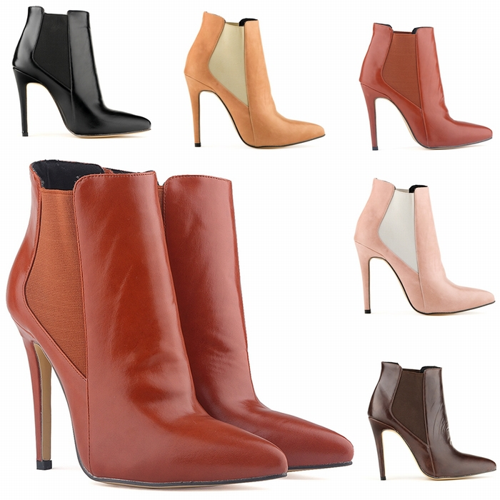 aaab3134545 FREE SHIPPING WOMENS FAUX LEATHER HIGH STILETTO THIN HEEL PLATFORM ANKLE  BOOTS SHOES US5 10 LADIES 769 2YP-in Ankle Boots from Shoes on  Aliexpress.com ...