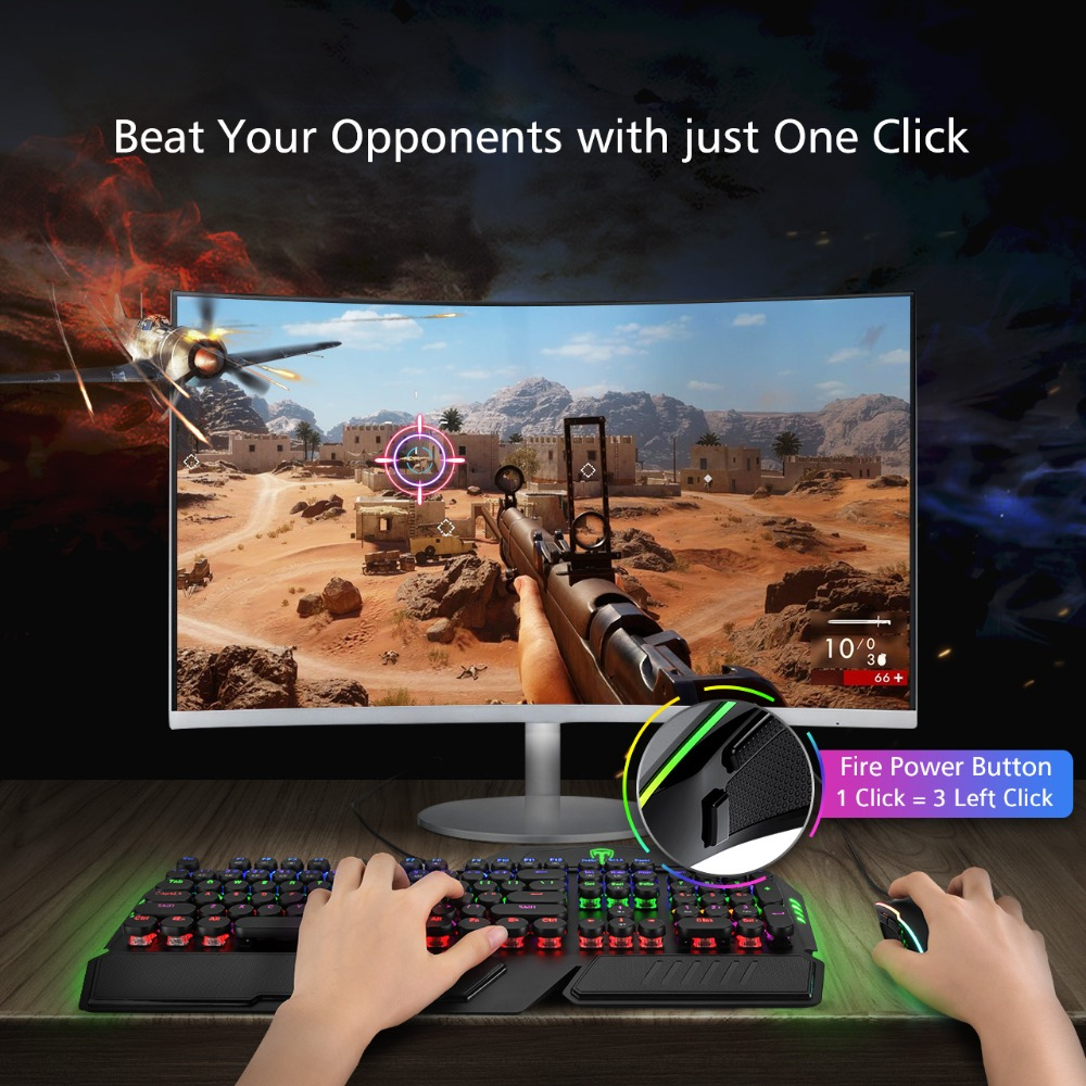 Image 5 - VicTsing RGB Gaming Mouse 8 Programmable Buttons 7200 DPI Adjustable Optical Wired Mouse Game Mice With Fire Button For Gamer PCMice   -