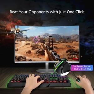 Image 5 - VicTsing ratón para videojuegos RGB, 8 Botones programables, 7200 DPI, ajustable, óptico, con cable, con botón de disparo, para PC