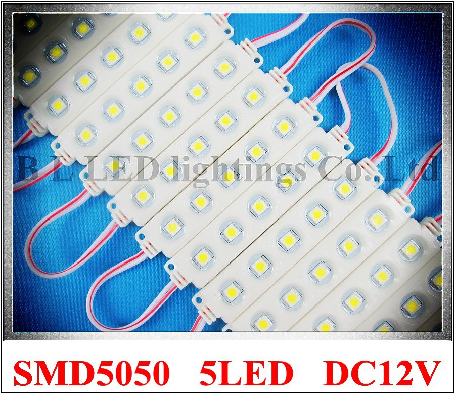 Впрыска из светодиодов модуль водонепроницаемый SMD 5050 из светодиодов реклама модуль жк-подсветка подсветка DC12V 1.2 Вт 5 из светодиодов IP66 90 мм …