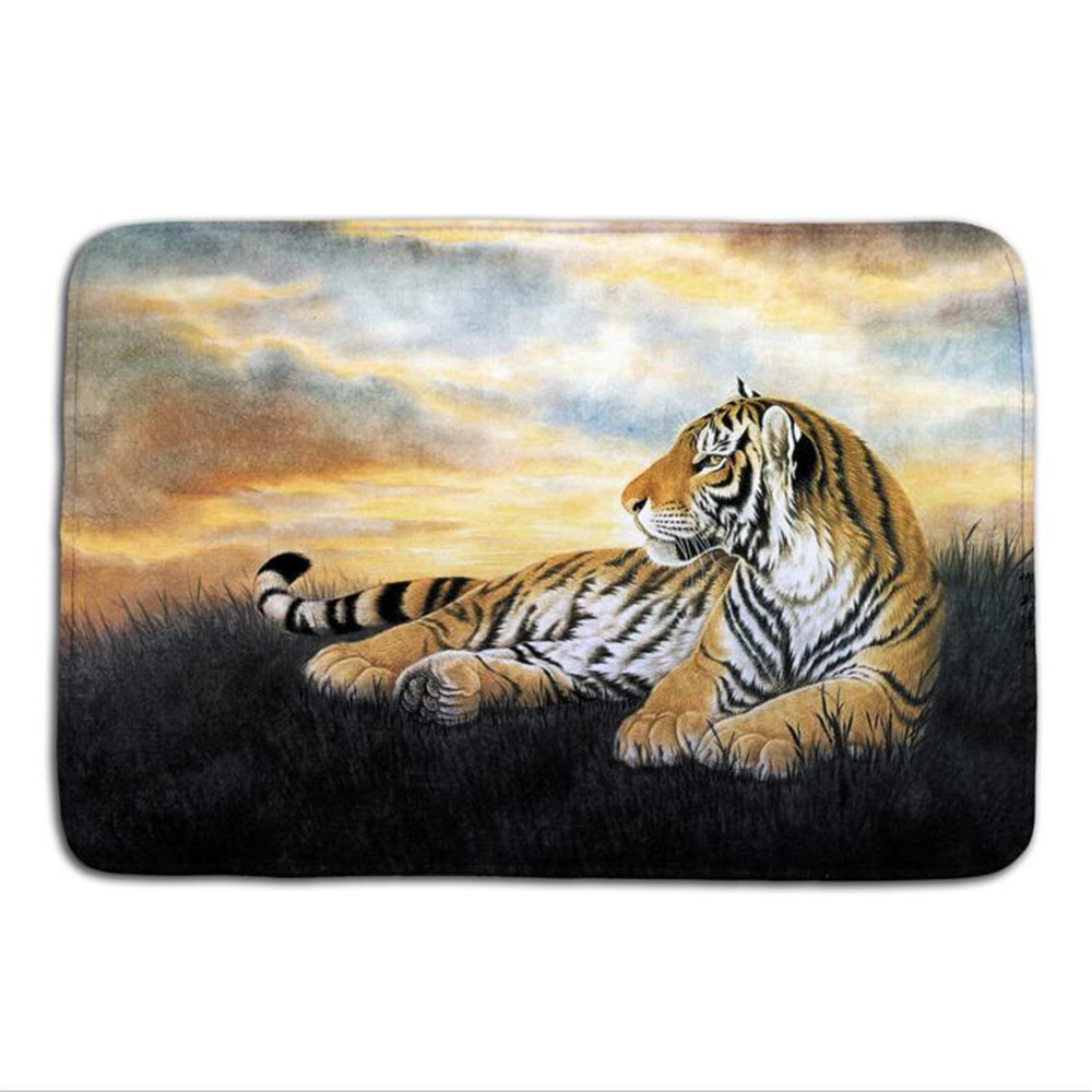 Bathroom Carpet Cartoon 3d Bath Mat Animal Elephant Tiger