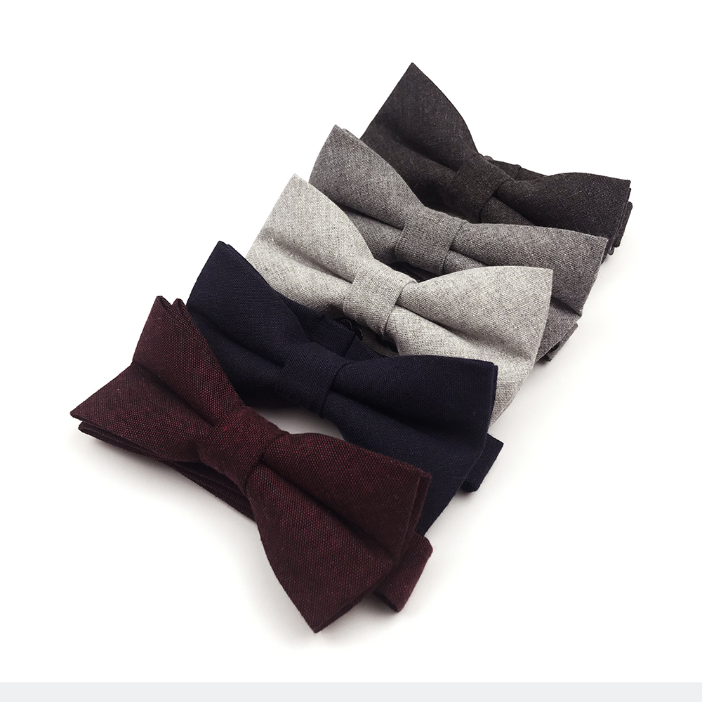 High Quality 100% Cotton Bowties For Men Wedding Bow Ties
