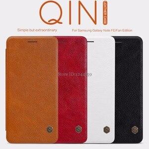 Image 2 - Nillkin For Samsung Galaxy Note FE Fan Edition Case Qin PU Flip Case For Samsung Galaxy Note FE Fan Edition Case Back Cover
