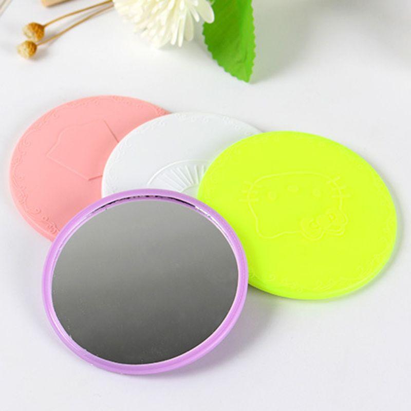 Spiegel Aus Dem Ausland Importiert Tragbare 7 Cm Kreative Cartoon Geprägte Runde Mini Tasche Make-up Spiegel Einzigen Seite Compact Cosmetic Werkzeug Travel