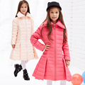 2016 Winter Jacket Girls down coat child down jackets girl duck down long design loose coats children outwear overcaot
