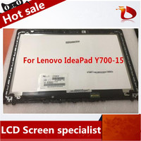 15.6 inch LCD screen assembly For Lenovo Ideapad Y700 15 y700 15ISK Front Glass LCD Screen Display Panel with frame Non touch