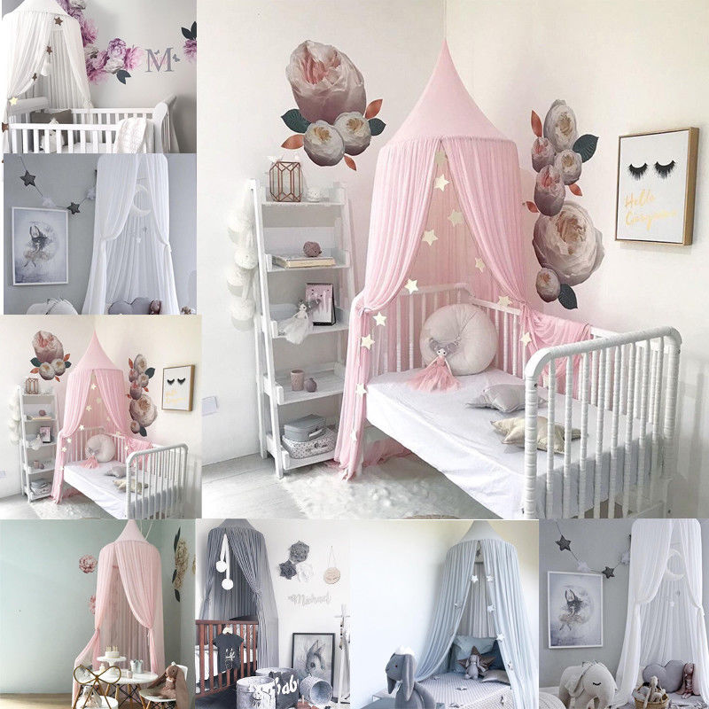 Princess Baby Crib Netting Ger Type Mosquito Net Bed Kids Canopy Bedcover Curtain Bedding Dome Tent baby crib mosquito netting holder summer mosquito net stand crib net holder baby bed canopy crib baby tent bed support for bed
