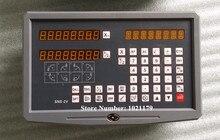 Freies Verschiffen 2 Achsen digitalanzeige dro für fräsen drehmaschine mit procision lineare skala (komplette set DRO kit)