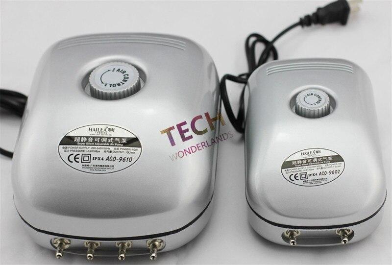 2W 5W 10W HAILEA ACO-9601 9602 9610 Original New Super Silent Adjustable Aquarium Air Pump,Fish Tank Oxygen Air Pump