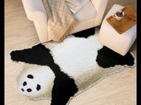 Panda rug carpet kids mat panda skin print rug faux skin rug super cute Rare animals Chinese national treasure wild Animal rug
