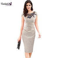Fantaist Summer Women Vestidos De Fiesta Elegant Cocktail Casual Retro Novelty Tight Fitted Short Sleeve New