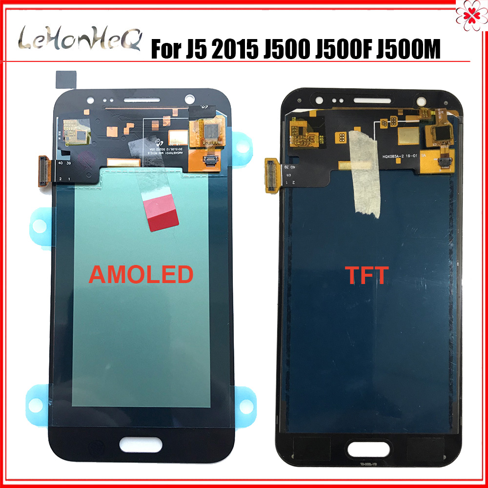 Lcd For Samsung Galaxy J5 2015 <font><b>J500</b></font> J500f Lcd Display Touch Screen Digitizer Assembly For Samsung J5 Screen Replacement image