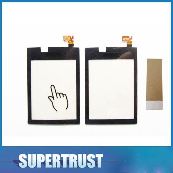 3,0 pulgadas para Nokia Sha 300 N300 pantalla táctil digitalizador cristal frontal lente Sensor Panel color negro con cinta