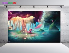 SHENGYONGBAO Art Cloth Photography Backdrops Props My little Pony theme Photo Studio Background SML-0027