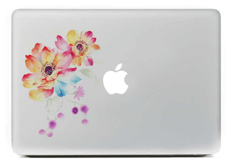 low priced 76cdb 5d34c Detail Feedback Questions about Watercolor flower Vinyl Decal ...