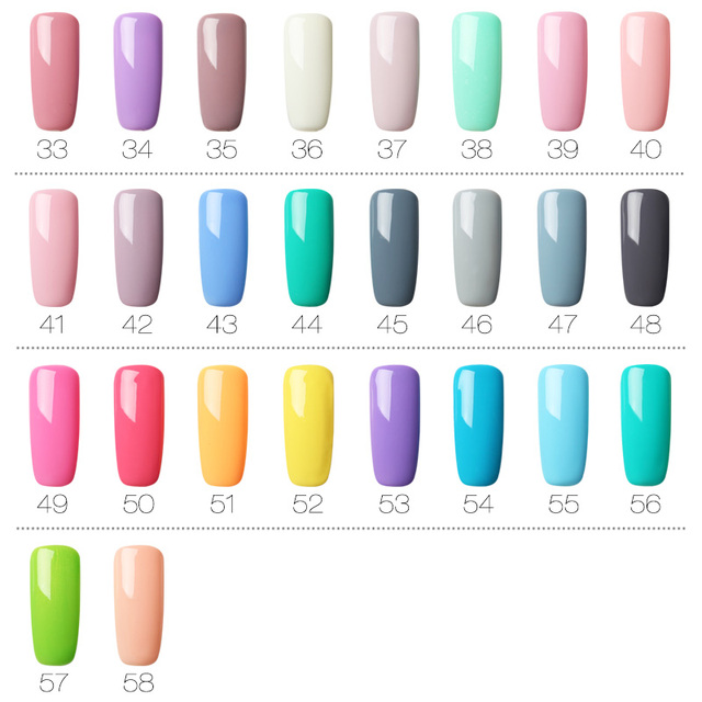 ROSALIND Gel Polish Nail Gel Lak Art Set For Manicure UV Vernis Semi Permanent Poly Hybrid Nail Gel Varnishes Top Coat Primer
