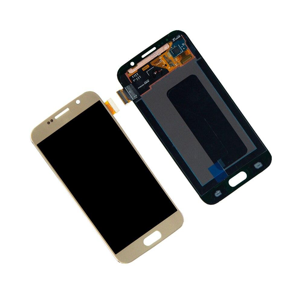 Affichage LCD pour Samsung Galaxy S6 G920P G920A G920T LCD affichage écran tactile numériseur assemblée pièces de réparation or